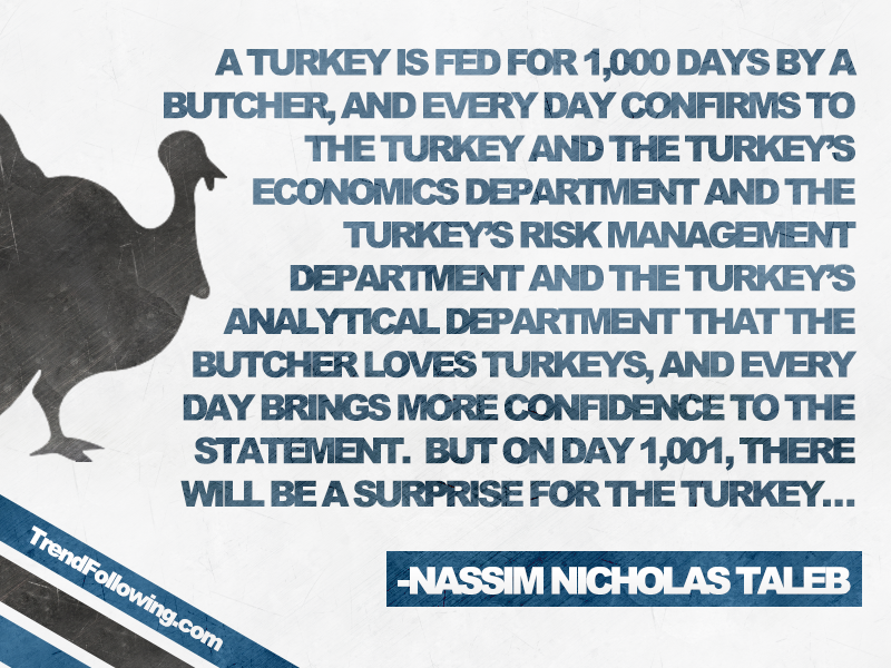 Nassim Taleb's Turkey Problem Quote
