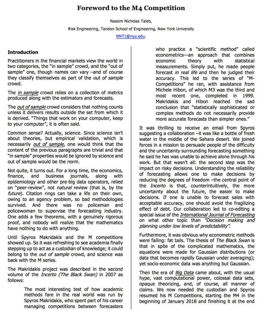 Foreword to the M4 Competition Page 1