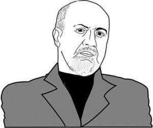 Drawing of Nassim Taleb
